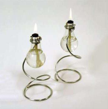 Масляная лампа из перегоревшей лампочки