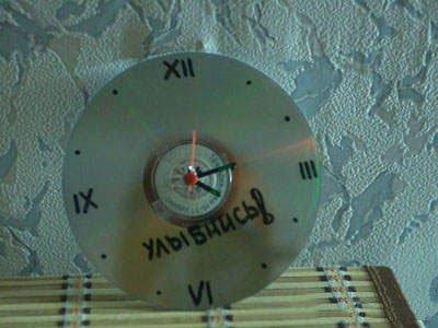 Часы из CD диска