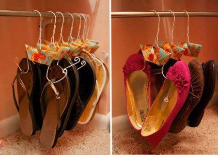 Вешалки для обуви своими руками