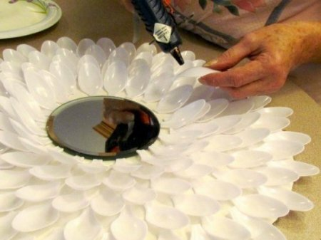Зеркало-цветок своими руками