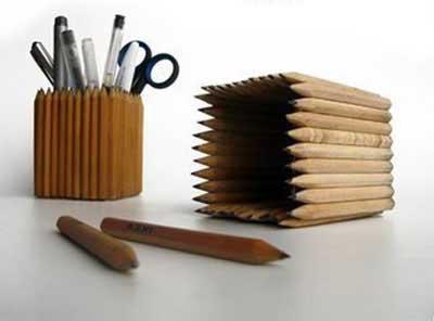 Карандашница из карандашей своими руками