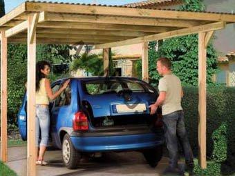 Строительство стоянки для автомобиля
