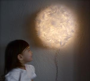 Воздушный светильник своими руками