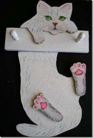 Вешалка в виде кошки своими руками
