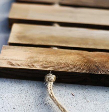 Деревянный коврик для обуви