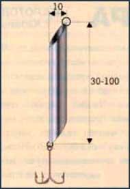 Алюминиевая блесна для подледного лова