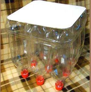 Табурет из пластиковых бутылок