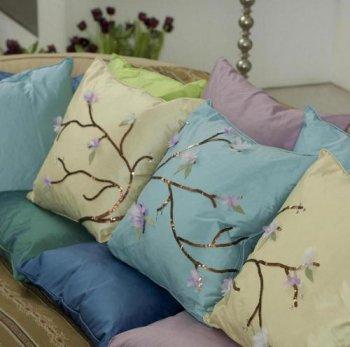 Декорирование подушек своими руками