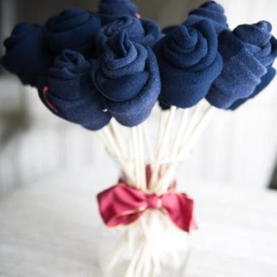 Букет цветов на 23 февраля своими руками