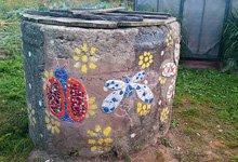 Декорирование бетонного кольца