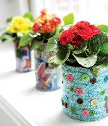 Декоративный цветочный горшок