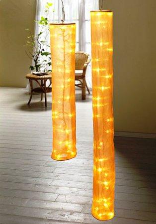 Оригинальный светильник из полупрозрачной ткани