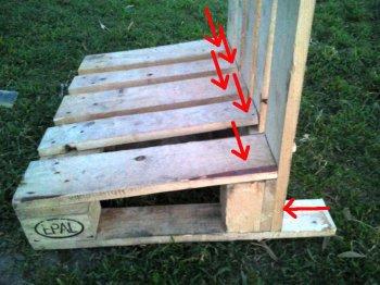 Как сделать скамейку из поддона
