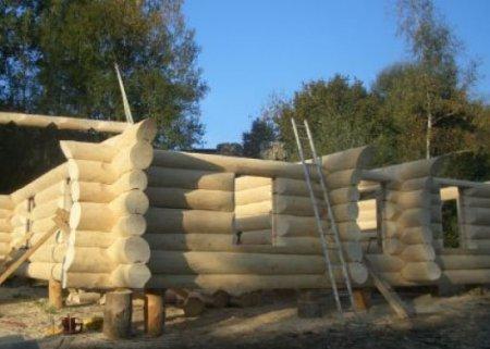Как построить дом из больших бревен