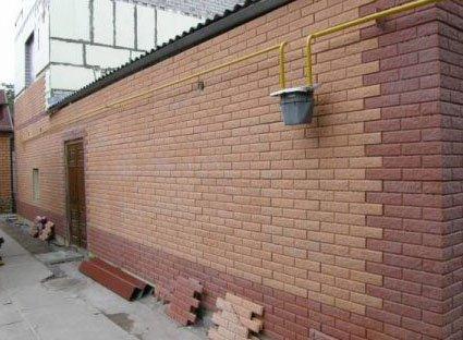 Облицовка дома керамическим кирпичом